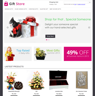 Gift Store - Shopping Cart Software