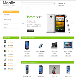 Mobile Store - Shopping Cart Software